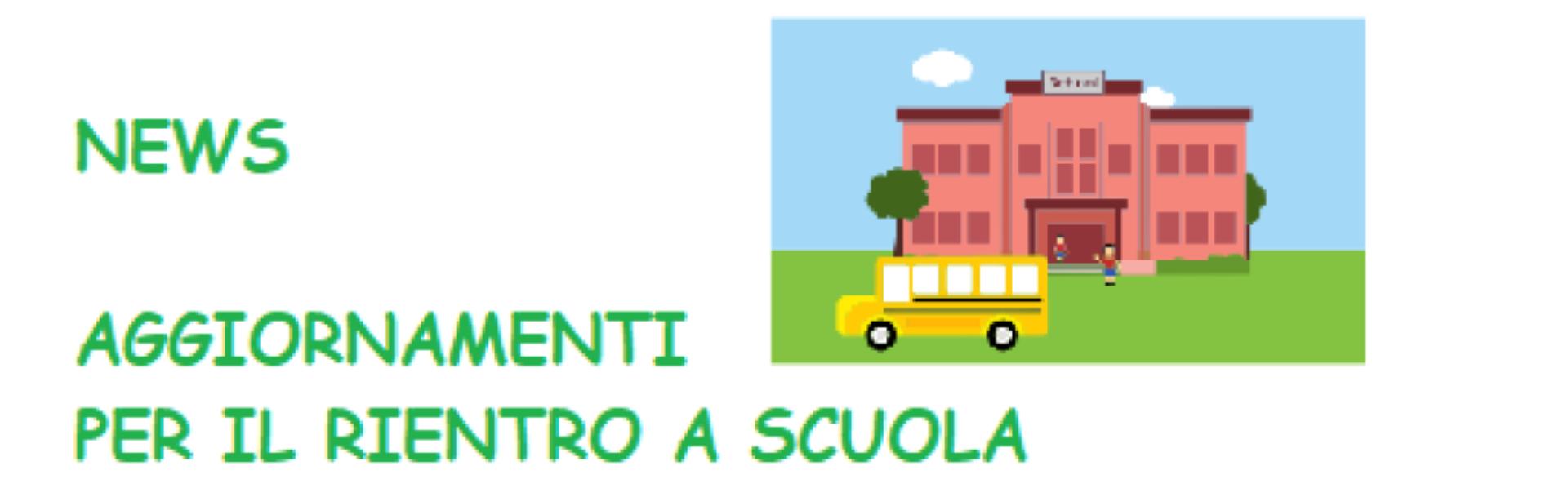 OGGETTO: COMUNICAZIONI PER IL RIENTRO IN CLASSE SCUOLA PRIMARIA A.S. 2020/21
