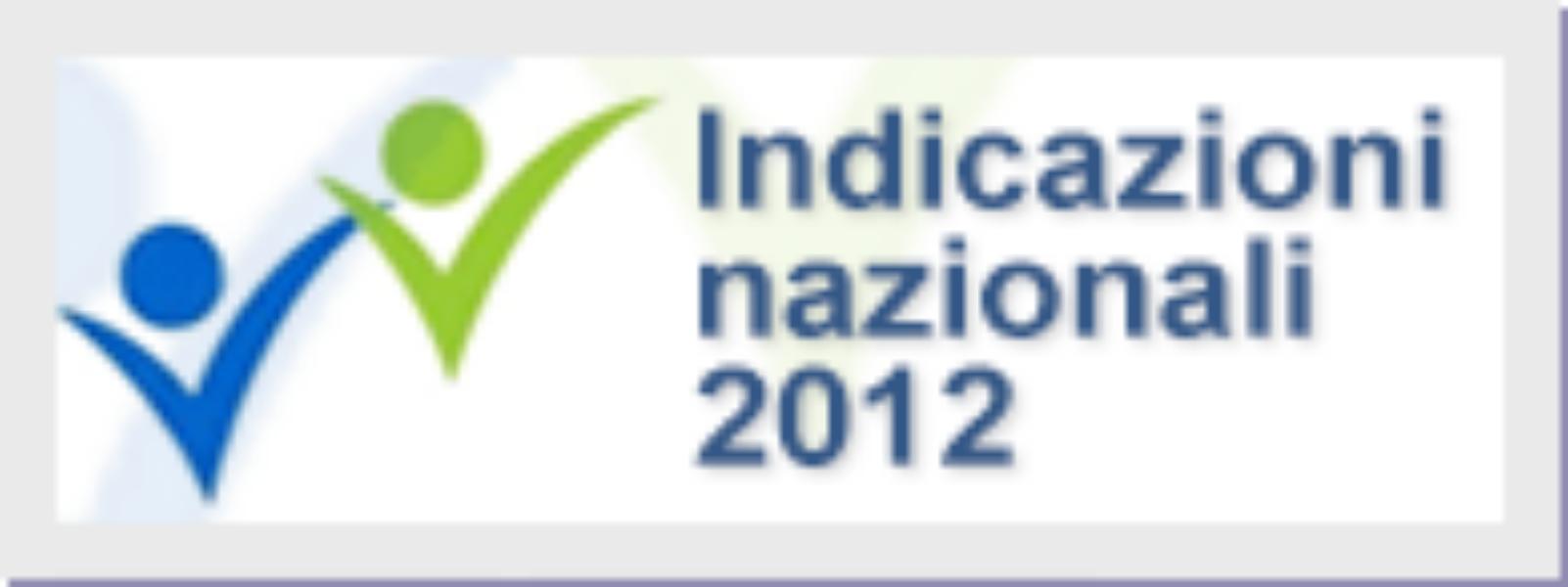 Indicazioni nazionali 2012